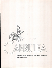 Page 7, 1947 Edition, Polytechnic High School - Caerulea Yearbook (Long Beach, CA) online yearbook collection