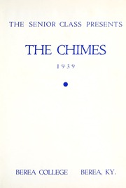 Page 7, 1939 Edition, Berea College - Chimes Yearbook (Berea, KY) online yearbook collection