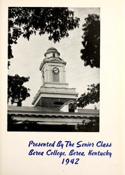 Page 7, 1942 Edition, Berea College - Chimes Yearbook (Berea, KY) online yearbook collection