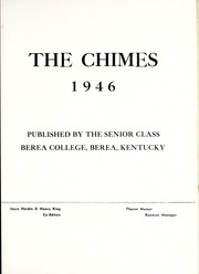 Page 7, 1946 Edition, Berea College - Chimes Yearbook (Berea, KY) online yearbook collection