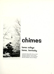 Page 5, 1968 Edition, Berea College - Chimes Yearbook (Berea, KY) online yearbook collection