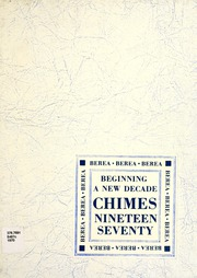 1970 Edition, Berea College - Chimes Yearbook (Berea, KY)