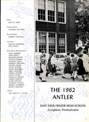 Page 5, 1962 Edition, East Deer Frazer High School - Antler Yearbook (Creighton, PA) online yearbook collection
