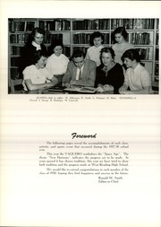 Page 8, 1958 Edition, West Reading High School - Vaquero Yearbook (West Reading, PA) online yearbook collection