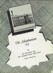 Page 5, 1959 Edition, West Alleghany High School - Alleghanian Yearbook (Oakdale, PA) online yearbook collection