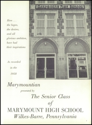 Page 5, 1958 Edition, Marymount High School - Marymountian Yearbook (Wilkes Barre, PA) online yearbook collection