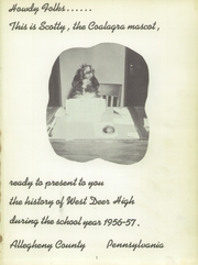 Page 5, 1957 Edition, West Deer High School - Coalagra Yearbook (Russellton, PA) online yearbook collection