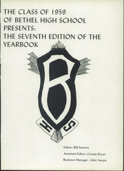 Page 5, 1959 Edition, Bethel High School - Bethanian Yearbook (Bethel, PA) online yearbook collection