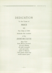 Page 17, 1940 Edition, St Joseph High School - Annunciata Yearbook (Williamsport, PA) online yearbook collection
