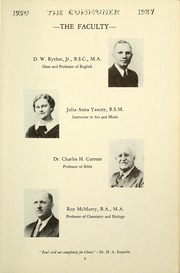 Page 13, 1937 Edition, Bryan College - Commoner Yearbook (Dayton, TN) online yearbook collection