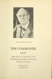 Page 7, 1937 Edition, Bryan College - Commoner Yearbook (Dayton, TN) online yearbook collection