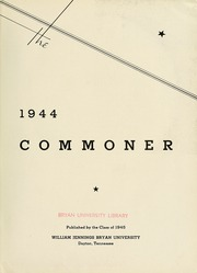 Page 7, 1944 Edition, Bryan College - Commoner Yearbook (Dayton, TN) online yearbook collection