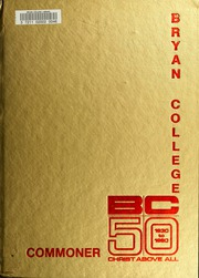 1980 Edition, Bryan College - Commoner Yearbook (Dayton, TN)