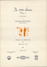 Page 5, 1938 Edition, Coaldale High School - Stentor Yearbook (Coaldale, PA) online yearbook collection