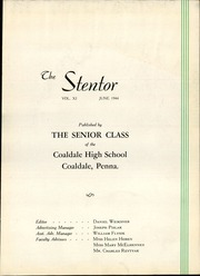 Page 7, 1944 Edition, Coaldale High School - Stentor Yearbook (Coaldale, PA) online yearbook collection