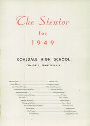 Page 5, 1949 Edition, Coaldale High School - Stentor Yearbook (Coaldale, PA) online yearbook collection