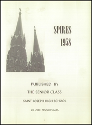 Page 5, 1958 Edition, St Joseph High School - Spires Yearbook (Oil City, PA) online yearbook collection