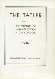 Page 7, 1936 Edition, Hummelstown High School - Tatler Yearbook (Hummelstown, PA) online yearbook collection