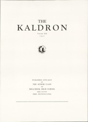 Page 7, 1947 Edition, Millcreek High School - Kaldron Yearbook (Erie, PA) online yearbook collection