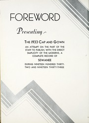 Page 8, 1933 Edition, University of the South - Cap and Gown Yearbook (Sewanee, TN) online yearbook collection