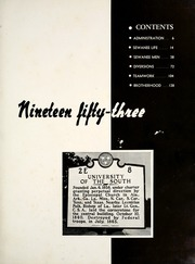 Page 5, 1953 Edition, University of the South - Cap and Gown Yearbook (Sewanee, TN) online yearbook collection