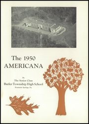 Page 5, 1950 Edition, Butler Township High School - Americana Yearbook (Fountain Springs, PA) online yearbook collection