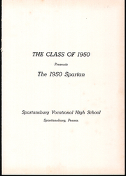Page 5, 1950 Edition, Sparta High School - Spartan Yearbook (Spartansburg, PA) online yearbook collection
