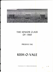 Page 5, 1960 Edition, Belleville Mennonite High School - Kish O Vale Yearbook (Belleville, PA) online yearbook collection