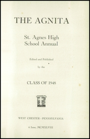 Page 5, 1948 Edition, St Agnes High School - Agnita Yearbook (West Chester, PA) online yearbook collection