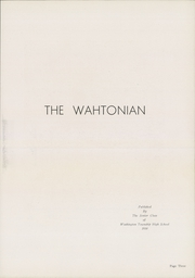 Page 7, 1950 Edition, Washington Township High School - Wahtonian Yearbook (Waynesboro, PA) online yearbook collection