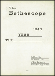 Page 5, 1940 Edition, East Bethlehem Township High School - Annual Yearbook (Fredericktown, PA) online yearbook collection