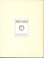 Page 2, 1951 Edition, Brevard College - Pertelote Yearbook (Brevard, NC) online yearbook collection