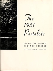 Page 7, 1951 Edition, Brevard College - Pertelote Yearbook (Brevard, NC) online yearbook collection