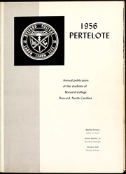 Page 5, 1956 Edition, Brevard College - Pertelote Yearbook (Brevard, NC) online yearbook collection
