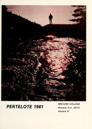 Page 5, 1981 Edition, Brevard College - Pertelote Yearbook (Brevard, NC) online yearbook collection