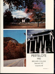 Page 5, 1982 Edition, Brevard College - Pertelote Yearbook (Brevard, NC) online yearbook collection