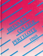 Page 1, 1988 Edition, Brevard College - Pertelote Yearbook (Brevard, NC) online yearbook collection