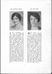 Page 10, 1930 Edition, North York High School - Panther Yearbook (North York, PA) online yearbook collection