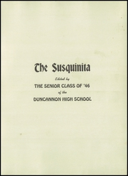 Page 5, 1946 Edition, Duncannon High School - Susquinita Yearbook (Duncannon, PA) online yearbook collection