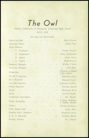 Page 3, 1939 Edition, Thompson Vocational High School - Owl Yearbook (Thompson, PA) online yearbook collection
