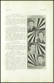 Page 9, 1939 Edition, Thompson Vocational High School - Owl Yearbook (Thompson, PA) online yearbook collection