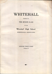 Page 7, 1923 Edition, Whitehall High School - Whitehall Yearbook (Hokendauqua, PA) online yearbook collection