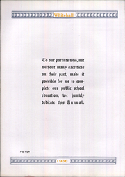 Page 12, 1936 Edition, Whitehall High School - Whitehall Yearbook (Hokendauqua, PA) online yearbook collection