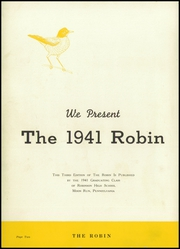 Page 4, 1941 Edition, Robinson Township High School - Robin Yearbook (McKees Rocks, PA) online yearbook collection