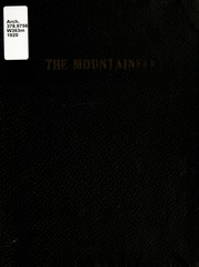 1920 Edition, Weaver College - Mountaineer Yearbook (Weaverville, NC)