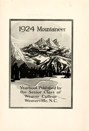 Page 7, 1924 Edition, Weaver College - Mountaineer Yearbook (Weaverville, NC) online yearbook collection