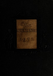 1932 Edition, Weaver College - Mountaineer Yearbook (Weaverville, NC)