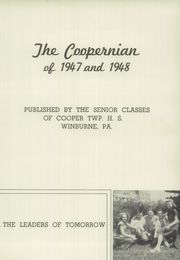 Page 7, 1948 Edition, Cooper Township High School - Coopernian Yearbook (Winburne, PA) online yearbook collection