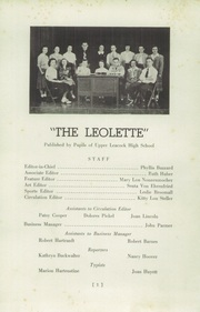 Page 3, 1949 Edition, Upper Leacock High School - Leolette Yearbook (Leola, PA) online yearbook collection