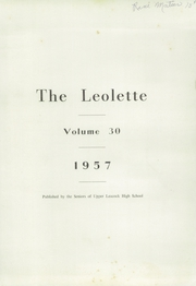 Page 3, 1957 Edition, Upper Leacock High School - Leolette Yearbook (Leola, PA) online yearbook collection